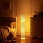 lvyuan Lampadaire Design Moderne Lampe de Sol Abat-jour en Tissu Plissé avec 2 Ampoules LED pour Salon Chambre Decoration 26x26x132cm Europäischer Netzstecker de la marque lvyuan image 1 produit