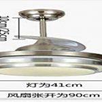Lx.AZ.Kx E27 Luminaire Suspension Lustre Vintage Moderne Lampe Pendante Plafonnier éclairage Cuisine, Salle à manger, Salon Ventilateur Led lumière salon clair et moderne lumière Suspensions 42 cm Chambre Invisible Lumière pour ventilateurs de plafond de image 2 produit