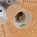 LXSEHN Rural Rotin Bambou Fait Main Lustre Restaurant Salon Chambre Balcon Couloir Bois Plafonnier Pendentif Suspension ( taille : 28*40cm ) de la marque LXSEHN image 4 produit