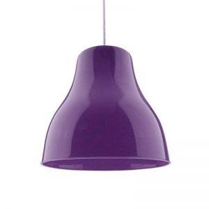 MagiDeal Abat-jour Lustre Lampe Suspendue Ombre Forme en Cône pour Plafonnier E27 Art Plastique Décor Chambre Salon - Violet de la marque MagiDeal image 0 produit