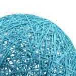 MagiDeal Lampe de Table en Rotin avec Câble Boule de Globe Plafond Suspension 20cm - bleu de la marque MagiDeal image 2 produit