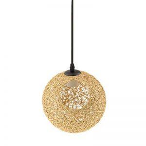 MagiDeal Lampe de Table en Rotin avec Câble Boule de Globe Plafond Suspension 20cm - de lin avec trou de la marque MagiDeal image 0 produit