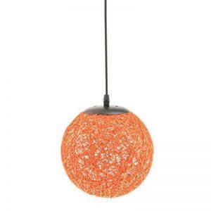 MagiDeal Lampe de Table en Rotin avec Câble Boule de Globe Plafond Suspension 20cm - Orange de la marque MagiDeal image 0 produit