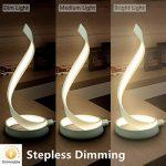 Makion Nouvelle LED Spirale Lampe de table, moderne contemporaine Minimaliste courbe Led Lampe de table de chevet pour Chambre Salon, Dimmable & Touch Control Lumière, blanc chaud, 15w de la marque Makion image 2 produit