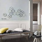 Manyo Bougeoir Mural Fer forgé Nordique Style 3D Géométrique Chandelier Décoration d'intérieur (Blanc) de la marque Manyo image 4 produit