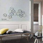 Manyo Bougeoir Mural Fer forgé Nordique Style 3D Géométrique Chandelier Décoration d'intérieur (Noir) de la marque Manyo image 3 produit