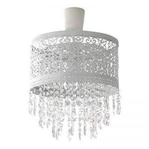 MARRAKECH hängelampenschirm blanc abat-jour en métal ornée de cristaux de la marque Grafelstein image 0 produit