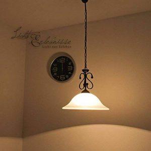 mattschwarze Suspension avec Verre Albâtre 1/4/754Plafonnier Suspension Lampe suspension Style maison de campagne pour salle à manger salon cuisine de la marque Licht-Erlebnisse image 0 produit
