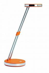MAUL Puck Luminaire de Table LED 1300 lux bras télescopique en métal hauteur environ 33 cm Orange de la marque MAUL image 0 produit