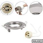MAXKO Lot de 12 spots encastrables avec douille GU10 pour ampoule LED, orientable – 2 ans – Spot encastrable, plafond, spot mural, éclairage Downlight LED de la marque MAXKO image 1 produit