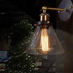Maxmer Applique Murale Industrielle Vintage Rétro Abat-jour Verre E27 DIY Éclairage Cuisine Salle à manger Salon Chambre d'enfants Restaurant de la marque Maxmer image 4 produit