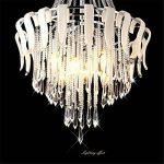 Maxmer Lustre en Cristal Ceiling Design Moderne Eclairage de plafond Plafonnier E14 Pendentif 4 Luminaire Intérieur Lampe Suspension Décorative pour Chambre Salle à manger Salon Hôtel Restaurant de la marque Maxmer image 4 produit