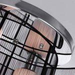 Maxmer Lustre Plafonnier Lumière Design Moderne Eclairage de plafond Tissu Noir Finition Chrome Luminaire Intérieur Chambre à Coucher Salon Hôtel Restaurant de la marque Maxmer image 4 produit