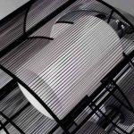 Maxmer Lustre Plafonnier Lumière Design Moderne Eclairage de plafond Tissu Noir Finition Chrome Luminaire Intérieur Chambre à Coucher Salon Hôtel Restaurant de la marque Maxmer image 3 produit