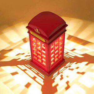 MECO Lampe de Table Style Vintage Cabine Téléphonique de Londres Vintage USB Charge LED Lampe Touch Sensor Table Bureau Veilleuse Pour Chambre Etudiants Dortoir Eclairage Bar Décoration Salon Décor de la marque MECO image 0 produit