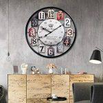Mecotech Ø 50 CM Métal Horloge Murale XXL Pendule Murale Design Silencieuse Horloge Decorative pour Maison/Cuisine/Chambre/Salon/Bureau Horloge Murale (Noir) de la marque Mecotech image 1 produit