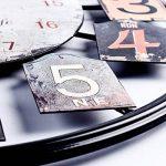 Mecotech Ø 50 CM Métal Horloge Murale XXL Pendule Murale Design Silencieuse Horloge Decorative pour Maison/Cuisine/Chambre/Salon/Bureau Horloge Murale (Noir) de la marque Mecotech image 4 produit