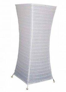 Meubletmoi Lampadaire Papier Blanc Pieds métal - Ambiance Douce Salon - 58 cm de la marque Meubletmoi image 0 produit