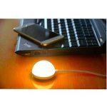 Mini DC 5 V USB Lampe magnétique Blanc chaud 5 W 3000 K lumière LED Veilleuse pour ordinateur/PC/Notebook Clavier [Classe énergétique A] de la marque HUABLUE image 3 produit