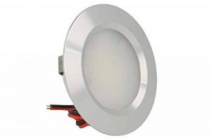 Mini spot LED encastrable rond, 3W, AC/DC 12V, DC 24V, trou 50mm, en aluminium satiné Bianco Neutro de la marque LEDLUX image 0 produit