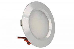 Mini spot LED encastrable rond, 3W, AC/DC 12V, DC 24V, trou 50mm, en aluminium satiné Blanc chaud de la marque LEDLUX image 0 produit