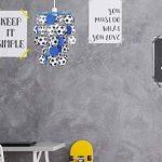 MiniSun Abat-Jour Abat Jour Lustre Suspension, BLEU Noir et Blanc Enfants, ALLEZ LES BLEUS Soccer, Foot, BALLON Football, CASCADE, Pour Douille de 28mm ou 42mm de la marque MiniSun image 2 produit