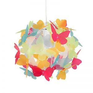 MiniSun Abat-Jour Abat Jour pour Lustre ou Suspension, Boule au Papillons Multicolore. Parfait pour enfants Ou Décor contemporain, Pour Douille de 28mm ou 42mm de la marque MiniSun image 0 produit