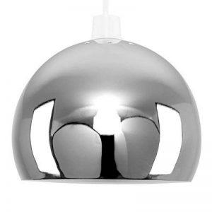 MiniSun Abat-Jour Abat Jour pour Lustre ou Suspension Boule/Globe en Chrome Polis et blanc à l'intérieure Rétro ou Contemporain, Adapté pour Douille de 42 mm (ou 28 mm avec bague de réduction) de la marque MiniSun image 0 produit