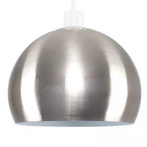 MiniSun Abat Jour Contemporain pour Suspension en Nickel Effet Acier Inoxydable Brossé. ARCO - Globe de la marque MiniSun image 0 produit