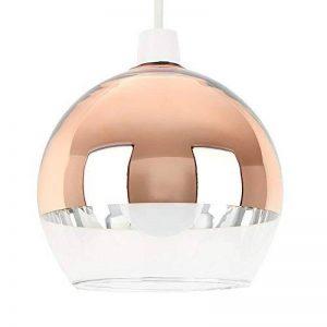 MiniSun Abat Jour Contemporain pour Suspension en Verre Clair & Cuivre Poli. ARCO - Dôme de la marque MiniSun image 0 produit