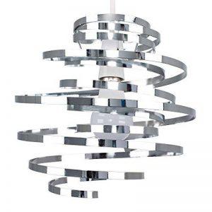 MiniSun, Abat-Jour Moderne en CHROME POLIS, Lustre Suspension. Double spirales en Métal, spirales en cascade de la marque MiniSun image 0 produit