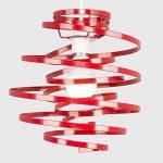 MiniSun, Abat-Jour Moderne en ROUGE BRILLANT Lustre Suspension. Double spirales en Métal, spirales en cascade de la marque MiniSun image 3 produit
