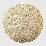 MiniSun Abat Jour Moderne pour Suspension. Ballon de 20 cm en Osier Tressé Crème. Adapte pour Douille de 42 mm avec bague de réduction pour douille de 28 mm de la marque MiniSun image 2 produit