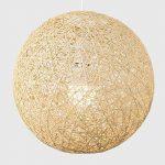 MiniSun Abat Jour Moderne pour Suspension. Ballon de 30 cm en Osier Tressé Crème. Adapte pour Douille de 42 mm avec bague de réduction pour douille de 28 mm de la marque MiniSun image 3 produit