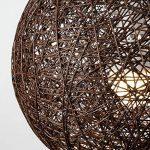 MiniSun Abat Jour Moderne pour Suspension. Ballon de 30 cm en Osier Tressé MARRON. Adapte pour Douille de 42 mm avec bague de réduction pour douille de 28 mm de la marque MiniSun image 3 produit