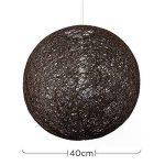 MiniSun Abat Jour Moderne pour Suspension. Ballon de 40 cm en Osier Tressé MARRON. Adapte pour Douille de 42 mm avec bague de réduction pour douille de 28 mm de la marque MiniSun image 1 produit