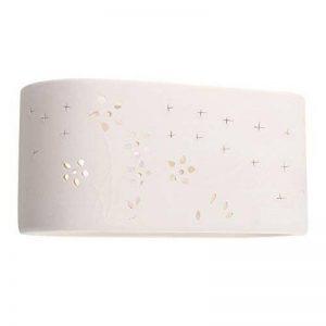MiniSun Applique Murale / Lèche-murs en Céramique Blanc (Peut être peint). Format Compacte e14, 40 watt de la marque MiniSun image 0 produit