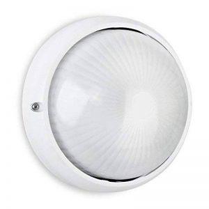 MiniSun Applique Murale (ou comme plafonnier) Moderne, hublot, Ronde E27. Lanterne pour l'extérieur. Aluminium Blanc et Diffuseur En Verre. Sécurité extérieure IP54 de la marque MiniSun image 0 produit