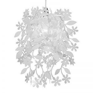 MiniSun - Belles fleurs en cascade et les feuilles florales blanches suspendues Lustre abat-jour de la marque MiniSun image 0 produit