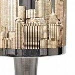 MiniSun 'Horizon - NEW YORK'. Lampe de Table, Chevet Touch Moderne. Variateur Touch intégré. Pied Contemporain en chrome avec Abat-Jour 'Gratte Ciel' aspect chrome polis de la marque MiniSun image 3 produit