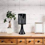 MiniSun 'Horizon - NEW YORK'. Lampe de Table, Chevet Touch Moderne. Variateur Touch intégré. Pied Contemporain en Noir Brillant avec Abat-Jour 'Gratte Ciel' Noir de la marque MiniSun image 2 produit