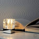 MiniSun Lampe de Table, Chevet, Bureau. Variateur Touche, Tactile, GLACON Contemporain Moderne Eclairage 4 niveaux Chrome Polis et Verre Clair. 28 watt G9 ampoule non-compris de la marque MiniSun image 1 produit