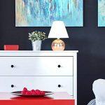 MiniSun Lampe de Table, Chevet Touch Moderne. Variateur Touch intégré. Pied Boule Cuivré et Abat-Jour Conique en Tissu Blanc de la marque MiniSun image 2 produit