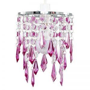 MiniSun Lustre avec perles et pendeloques. Gouttelettes en acrylique Violet/transparentes de la marque MiniSun image 0 produit