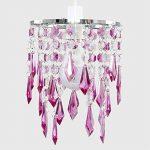 MiniSun Lustre avec perles et pendeloques. Gouttelettes en acrylique Violet/transparentes de la marque MiniSun image 3 produit