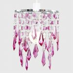MiniSun Lustre avec perles et pendeloques. Gouttelettes en acrylique Violet/transparentes de la marque MiniSun image 4 produit