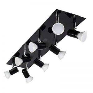 MiniSun Plafonnier/Applique. Design Contemporaine. Rectangulaire et entièrement réglable 8 SPOT fini en Noir Brillant. GU10 (ampoules non-fournies). de la marque MiniSun image 0 produit