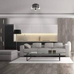 MiniSun Plafonnier, ou Applique Murale, 3 Spot Moderne en Noir Brillant et Chrome. Réglable, 50 watt GU10 (non fourni) de la marque MiniSun image 2 produit