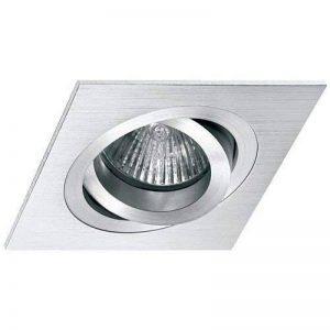 Miño Spot encastrable avec encadrement carré basculant (halogène ou LED) Aluminium brossé de la marque Miño image 0 produit