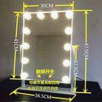 Miroir de maquillage 1 face sur pied pour table - avec lampes pour miroir de style professionnel - Miroir de maquillage à LED, rabattable - 400x 80x 485mm de la marque YROAR image 4 produit